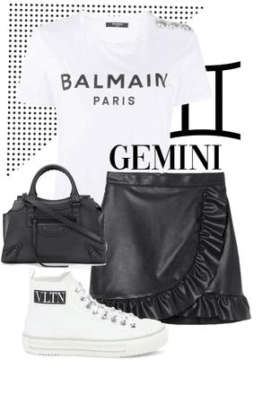 the B&W gemini girl