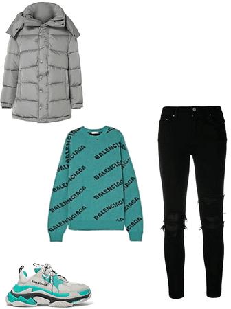 blue winter balenciaga