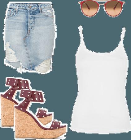 Denim Skirt Summer