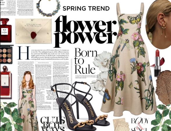 Flower Power: Spring Midi Dress
