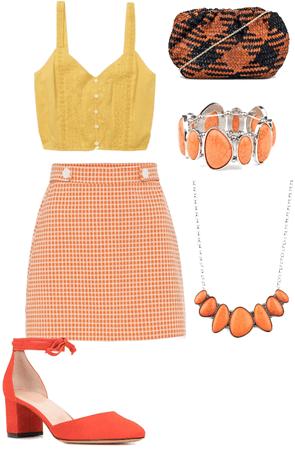 Orange and Yellow