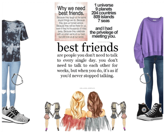 bffs aren't measured by the beauty of an outfit