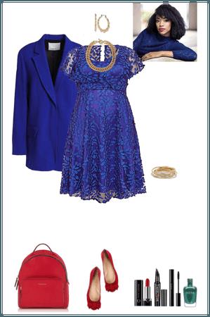 blue work dress (Aoife)