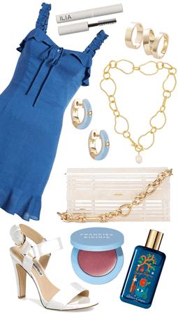 blue dress for summer