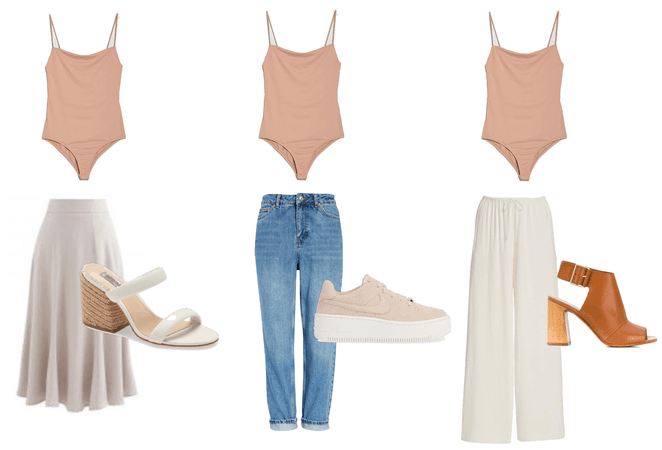 Capsule wardrobe pink bodysuit