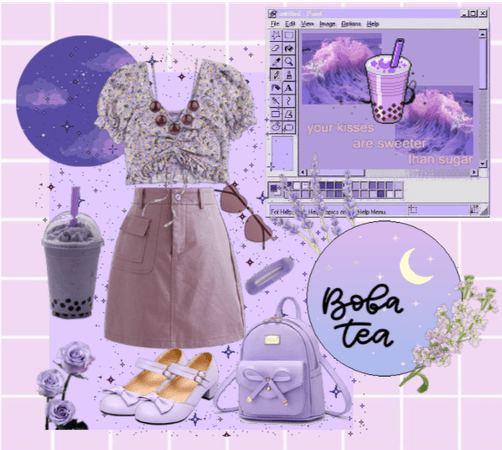 Boba Outfit Challenge - Ube