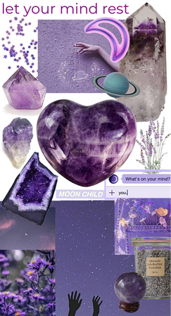 amethyst says: rest your mind. take a break from racing thoughts through meditation.