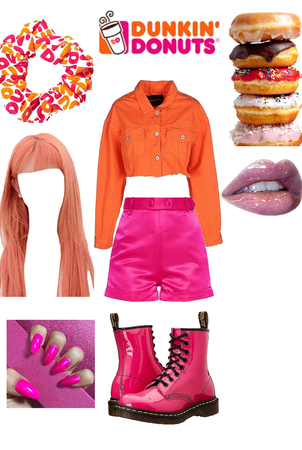 Dunkin' Donuts scrunchie: Dunkin' Donuts girl
