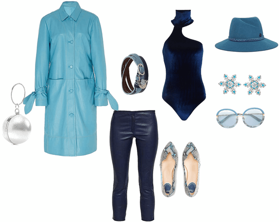 Classic blue non Classic outfit
