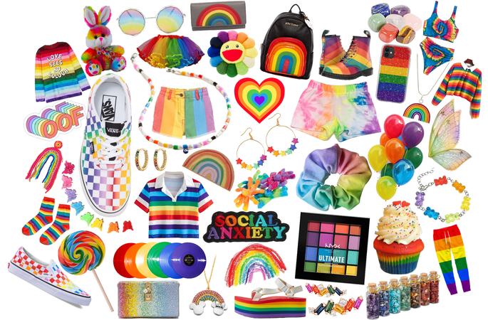 rainbow mood board 🌈