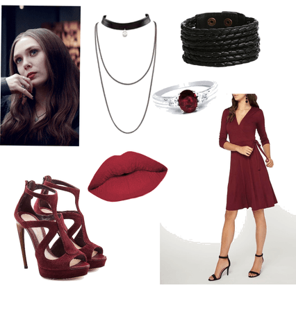 Scarlet Witch goes to Marvel prom