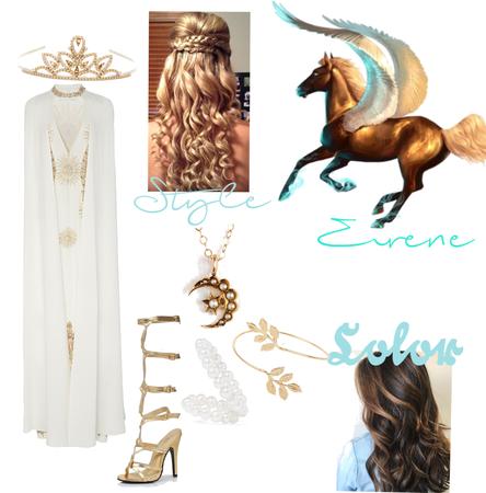 In Asgard riding my horse Eirene.