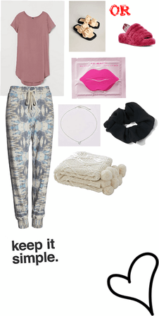 casual comfy at home fit