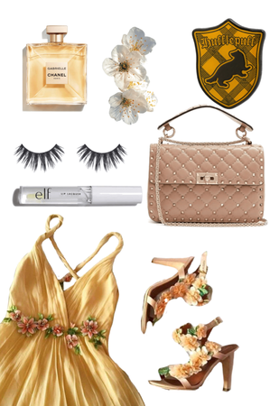 formal hufflepuff outfit- Yule Ball
