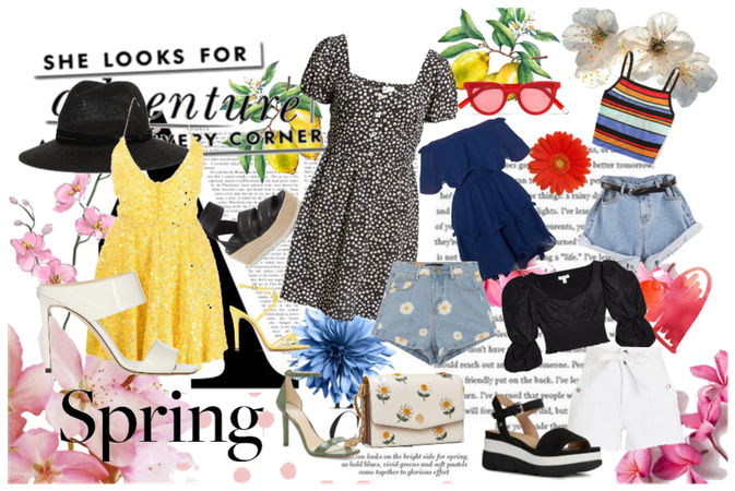 Spring-summer outfit collage