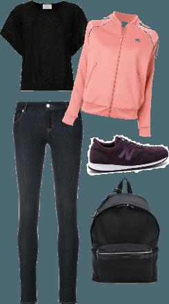 Casual pink n black