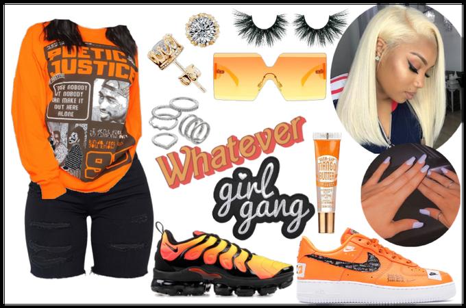 orange baddie outfit