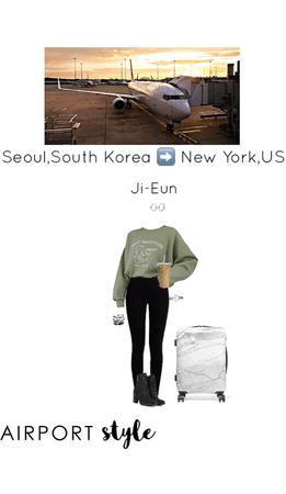 JI-Eun Flew Home