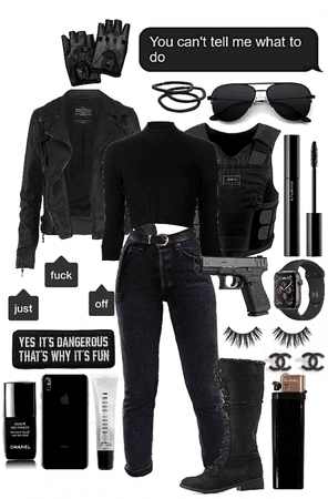 all black cop style