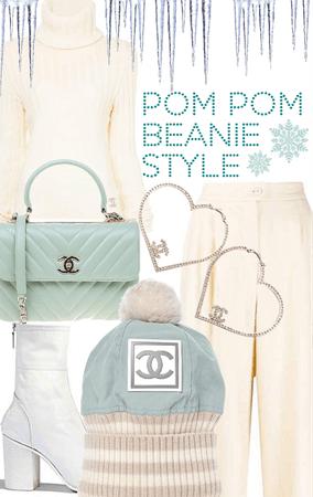 Pom Pom Beanie Style