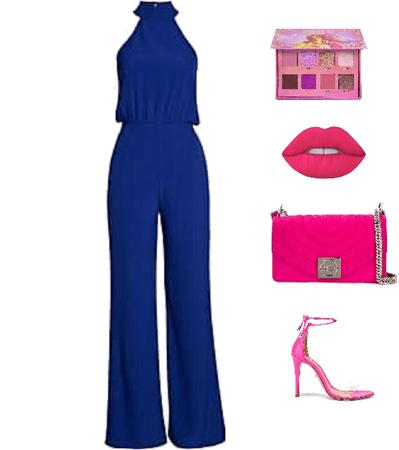 Outfit Glam azul Francés
