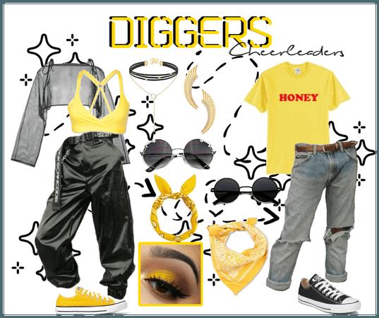 Diggers cheerleaders - Uniform #4