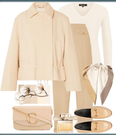 beige look