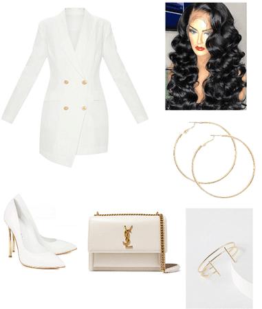white & gold .