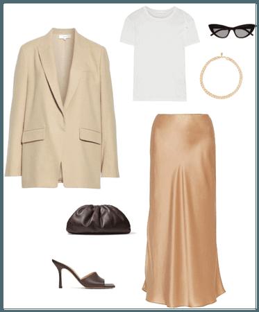 Bottega neutral slip dress