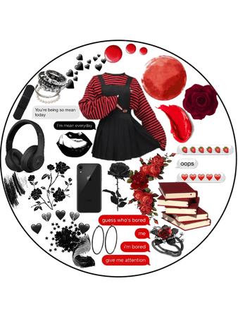black n red