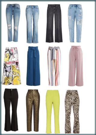 pantalones cuerpo triangulo invertido