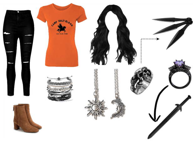 Camp Half-Blood outfit and weapons