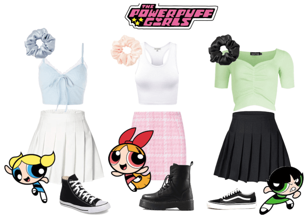 powerpuff girls but as my freinds outfits :)