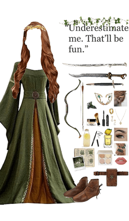 Fantasy outfit: an elven warrior with royal blood