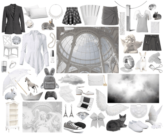 White & Gray Collage