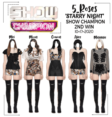 5ROSES 'Starry Night' SHOW CHAMPION 2nd win