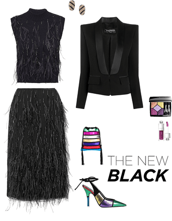 Black feather dress 🖤