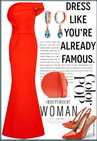 Elegant Deep Orange outfit - classy NYE looks