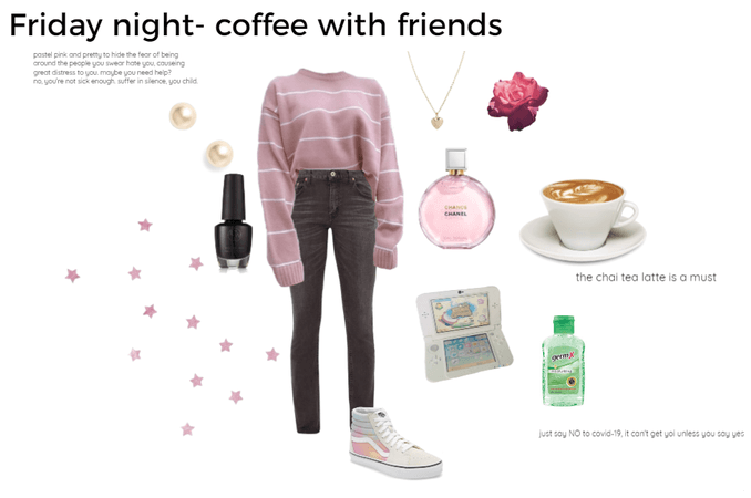 Friday night Casual coffee with friends