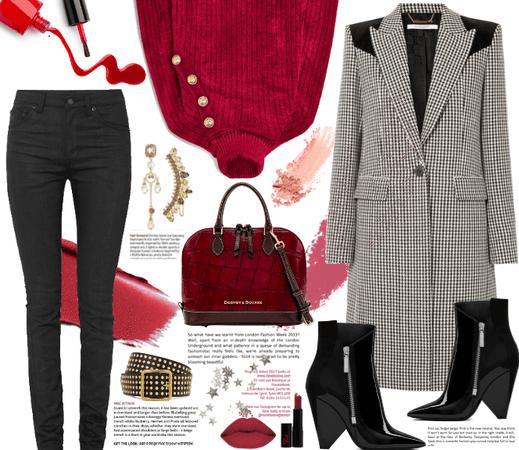 Givenchy Coat + Balmain Sweater.
