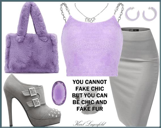 purple fur and grey