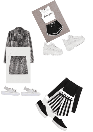 black and white clothes