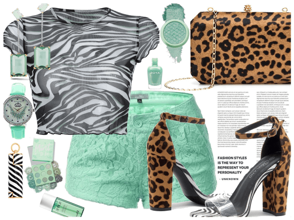 Minted Zebra and Leopard print