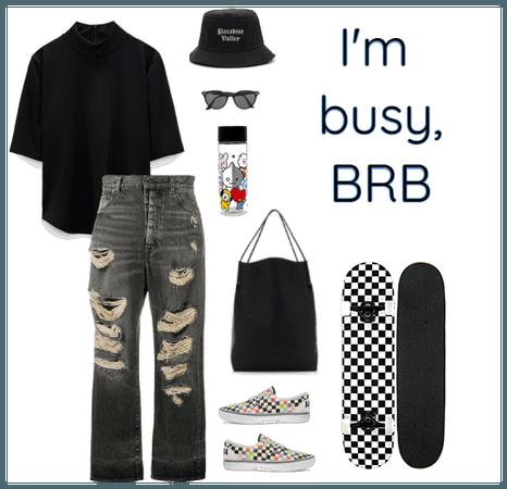 Busy Skateboarding