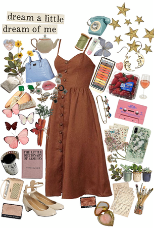 spring midi dress but vintage vibes