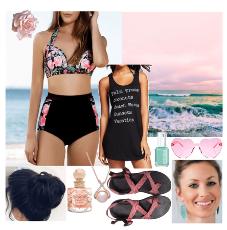 Pink Rose swimsuit