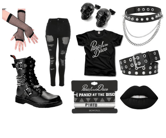 emo school outfit
