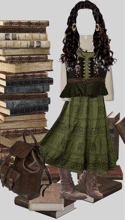 Lori reading LOTR