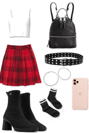 *red* outfit