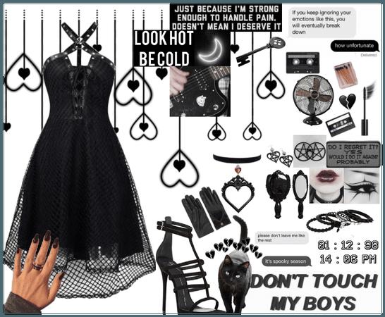 Black/Goth Dress Fit